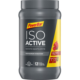 PowerBar Isoactive Isotonic Sports Drink Tub 600g Red Fruit Punch
